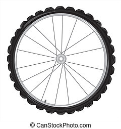 Wheel of the bicycle - Wheel from bicycle on white...