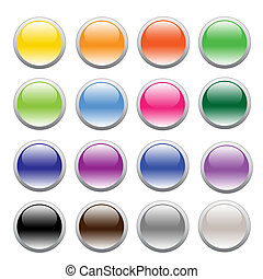 Button - Illustration of buttons in different colors on a...