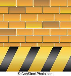 Warning-Hazard - A background featuring hazard stripes over...