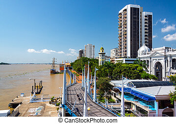 Guayaquil Malecon View - View of the Malecon and the Guayas...