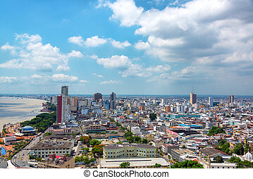 Guayaquil Cityscape - Cityscape view of Guayaquil, Ecuador