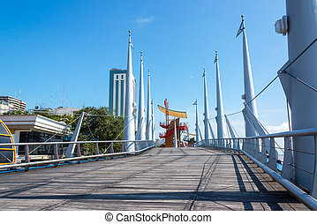 Guayaquil Boardwalk - Boardwalk on the Malecon in Guayaquil,...