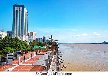 Guayaquil Waterfront - Waterfront in Guayaquil, the largest...