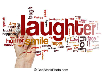 Laughter word cloud concept