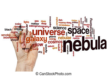 Nebula word cloud concept