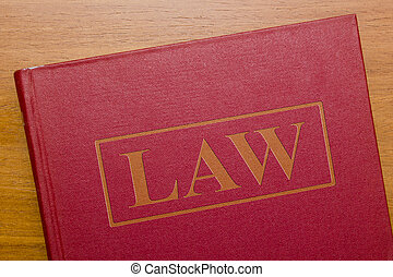 Law book of laws for the judicial legal system