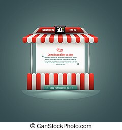 Vector illustration of a stall Can use for promotion sale...
