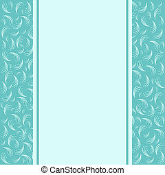 Template greeting card. Retro greeting card and background.