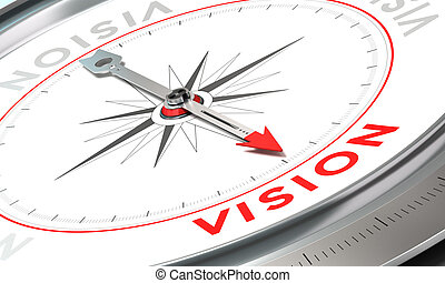 Company Statement, Vision - Compass with needle pointing the...