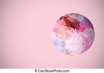 coloré, polygone, résumé, fond,