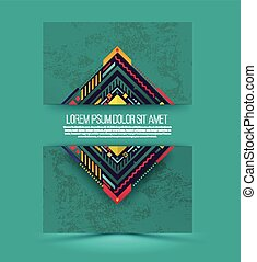 Abstract vector banner with texture