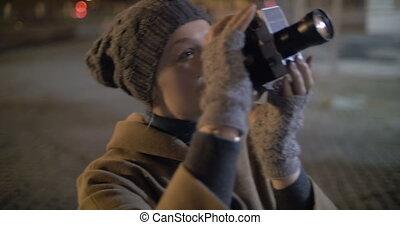 Night shooting of Coliseum with retro camera - Steadicam...