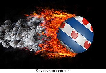 火,  friesland,  -, 形跡, 旗, 煙