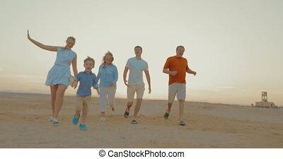 Boy is a winner of family race outdoor