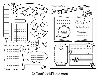 All about me. School Printable - Back to School. All About...