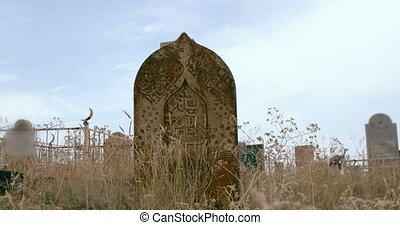 Medieval islmic tomb stone of Old Tartar Cemetery in...