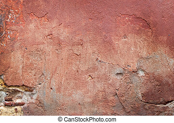 red-brown background - Background of a ocher natural stone...