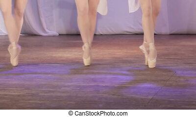Ballet girl feet - On stage legs dancing ballet girl