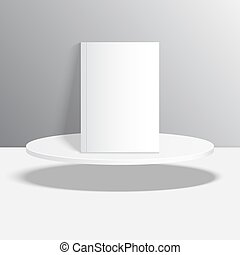 Empty blank oval hovering on the podium Vector pedestal...