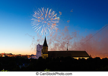Fireworks over the Cathedral of Kant - Fireworks over the...