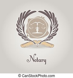 Template vector logo for legal, notary organization. -...