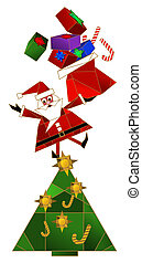 Santa Claus - Vector illustration with Santa Claus standing...