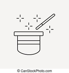magic trick line icon
