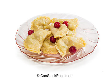 Varenyky - Ukrainian varenyky dumplings filled with sour...