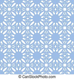 Floral seamless pattern blue color
