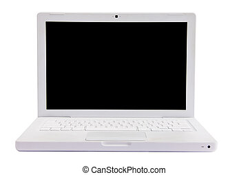 Laptop computer over white