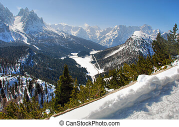 Alps Winter, Dolomites, Italy, 2007 - Wonderful view of...
