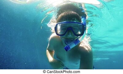 Tennager snorkeling - Tennager training Snorkeling in home...