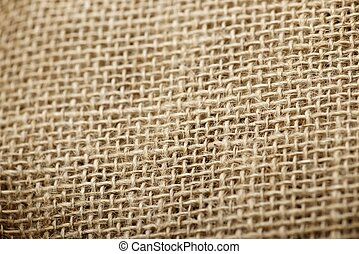 Sacking - Close up of natural burlap hessian sacking