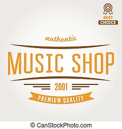 Vintage logo, badge, emblem or logotype elements for music...