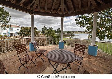 beautiful gazebo in a resort estate villa - View of a...