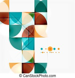 Semicircle triangle pattern. Abstract mosaic background,...