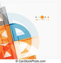 Semicircle triangle pattern Abstract mosaic background,...