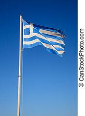 Fluttering Greek flag