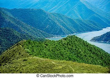 Kozjak lake in Macedonia - Beautiful mountains and Kozjak...