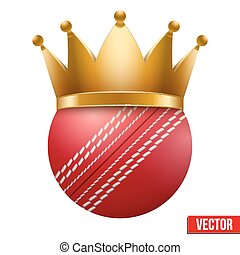 Cricket ball with royal crown