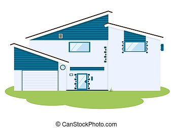 Vector Illustration of modern house csp2243772 Search Clipart