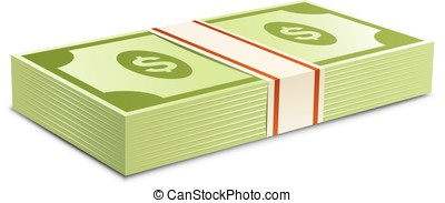 packs--dollars-money - Money bundle of dollars bank notes...