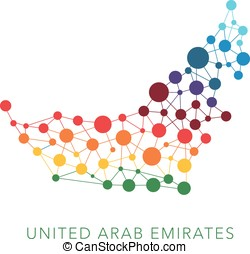 dotted texture United Arab Emirates vector background on...