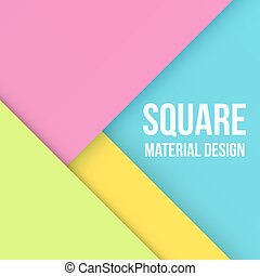 Color Background Unusual modern material design. Square...