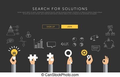 flat vector template search for solutions creative...