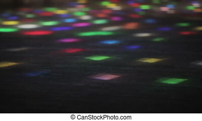 Light figure on floor - On stage, running light figures