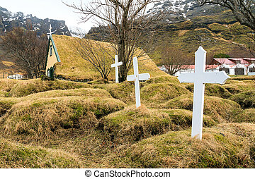 Iceland turf church