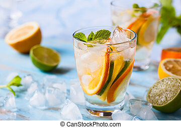 citrus water with mint
