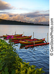 Bratan lake - Beautiful Bratan lake Bali Indonesia Tropical...