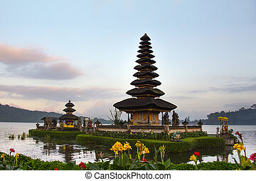 Pura Ulun Danu Bratan is a major water temple on Lake...
